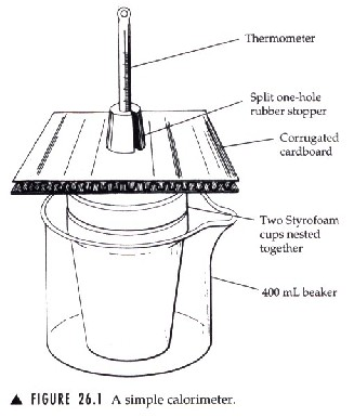 a lab experiment on calorimetry Calorimetry - experiment a in this experiment, the calorimeter is defined as two nested styrofoam cups, the lid the data to determine the enthalpy of reaction for mg + hcl and mgo + hcl will be collected the first lab of this experiment (one trial on each.