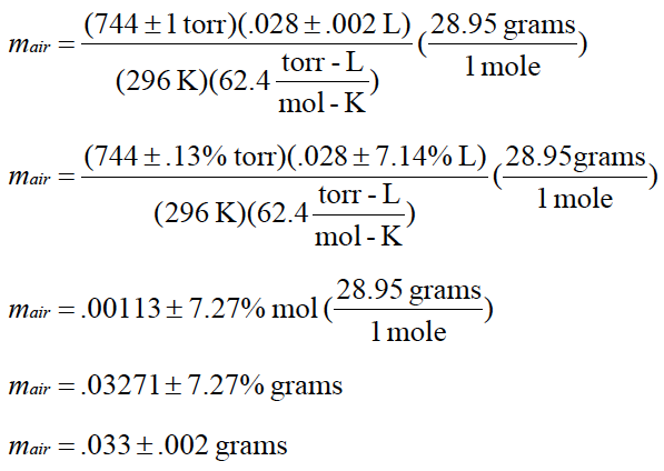 molecular weight of a condesable vapor Excess vapor escapes via the hole in the container the remainder is  if the molecular weight of the compound is also known, it can be used in conjunction with the.